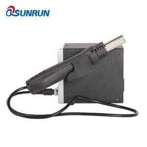 Image 2 - Qsunrun 700W BGA / IC 뜨거운 공기 총 실버 858D ESD 납땜 역 LED 디지털 디스플레이 SMD Desoldering 역 LCD 수리 도구