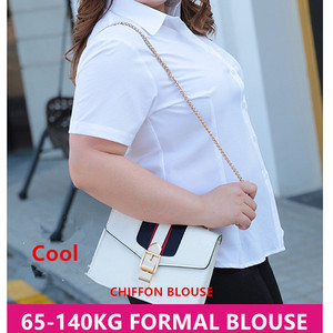 Image 3 - Gömlek bluz kadınlar artı boyutu 5XL 6XL 7XL 8XL 10XL bayan üstleri ve bluzlar şifon beyaz gömlek yaz ofis bayanlar resmi Blusa