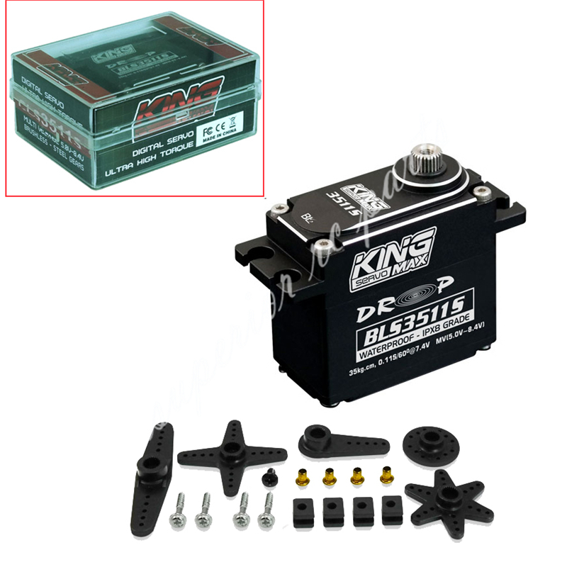 BLS3511S--83g 40kg Digital Steel Gears Waterproof Servo Brushless Motor Multivoltage Standard Servo 25T 57 brushless servomotors dc servo drives ac servo drives engraving machines servo