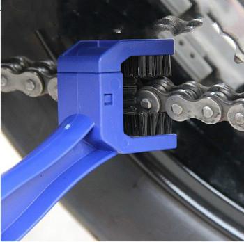 Plastikowa jazda na rowerze motocykl łańcuch rowerowy szczotka do czyszczenia biegów Grunge szczotka do czyszczenia przyrząd do czyszczenia na zewnątrz Scrubber bisiklet Tools tanie i dobre opinie
