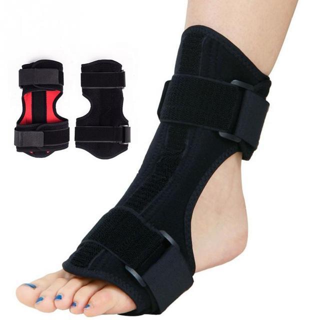Fascitis Plantar férula Dorsal para noche y día, estabilizador de ortesis para pies, soporte ortopédico de gota ajustable, alivio de dolor de apoyo