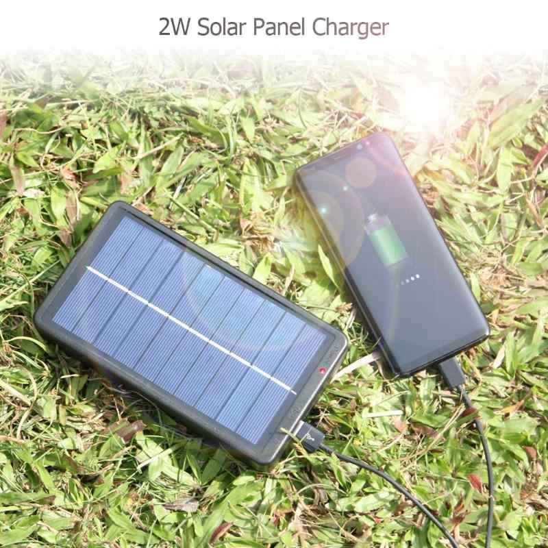 ALLOYSEED 2W  USB Lights Charger Solar Panel Charger with Base for 1 2 Section 18650 Battery Rechargeable Charging Mobile Phone