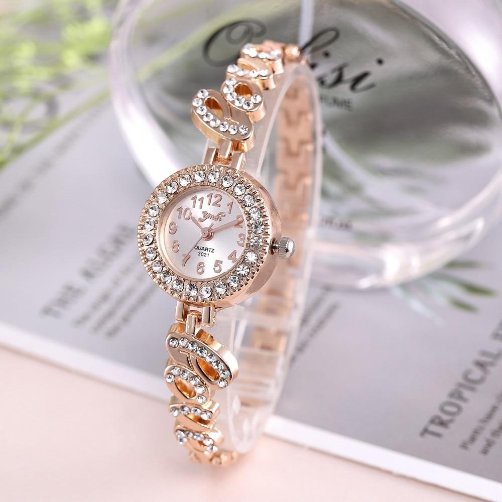 Top Brand Luxury Bracelet Women Watches Fashion Quartz Crystal Rhinestone Watch Ladies Casual Dress Sport WristWatch Reloj Mujer