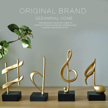 Resina Creativa Notas Musicales Diseño Estatua Vino Gabinete Decoración Para El Hogar Artesanías Decoración De Habitación Objetos De Estudio Salón Figurillas Vintage