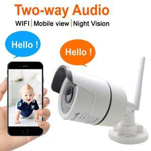 Image 1 - IP Kamera Wifi Zwei weg Audio 720 P 960 P 1080 P Cctv Drahtlose Sicherheit Im Freien Wasserdichte 2mp Mini HD Überwachung Infrarot Lautsprecher