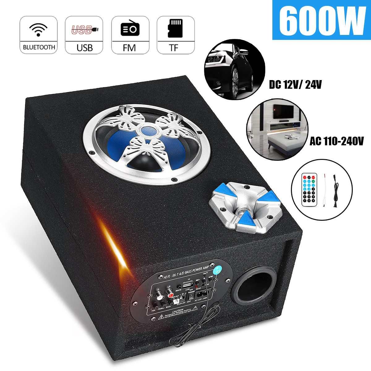 6 дюймов Универсальный автомобильный Bluetooth динамик 600 Вт автомобильный сабвуфер динамик аудио стерео fm-радио автомобильный динамик s звук