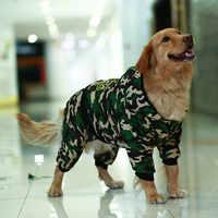 Camuflaje ropa mascotas ropa perro grande mascota perro ropa invierno cálido Chic mono con capucha Golden retriever perro abrigo chaqueta para perros grandes