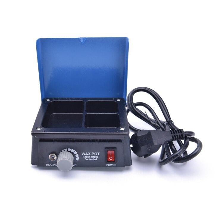 1PC Dental Lab Equipment Wax Heater 3-well Wax Heating Analog Dipping Pot Melting Wax Machine Dentist Equipment Free shipping