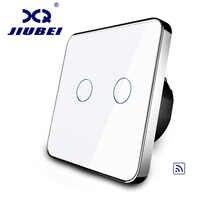 Jiubei EU Standard, Remote Switch, Crystal Glass Panel, EU standard,Wall Light Remote Touch Switch+LED Indicator,C702R-11/12/13