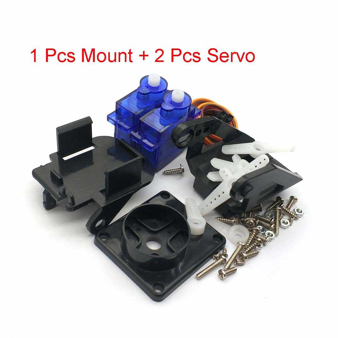 1 Set Pt Pan/Tilt Camera Platform Anti-Vibration Camera Mount Voor Aircraft Fpv + 2 Pcs SG90 9G Servo