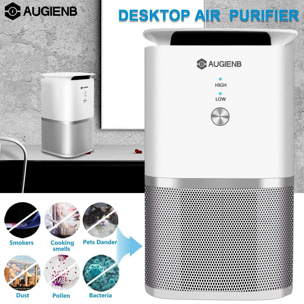 Purificador de Ar com Filtro HEPA Verdadeiro AUGIENB Esterilizador Remover Poeira Lavagem de Ar de Fumaça Formaldeído Purificador de Ar de Limpeza Para Uso Doméstico