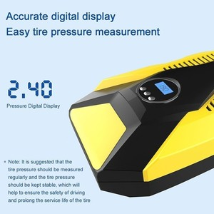 Image 2 - Digital Display Car Inflatable Pump 12V/220V Auto Car Air Compressor Vehicle Tire Inflator Pump For Car Motorcycles Bicycles