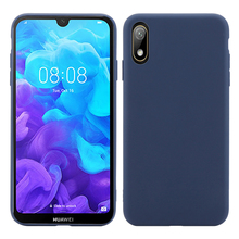 For Huawei Y5 2019 Y6 Case Soft Silicone Slim Candy Color Matte TPU Cover Pro Y9 Shockproof