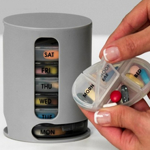 2019 Hot Pill Box 7 Days Organizer For Tablets Cases Compact Organize Mini Pills Storage Medicine Container