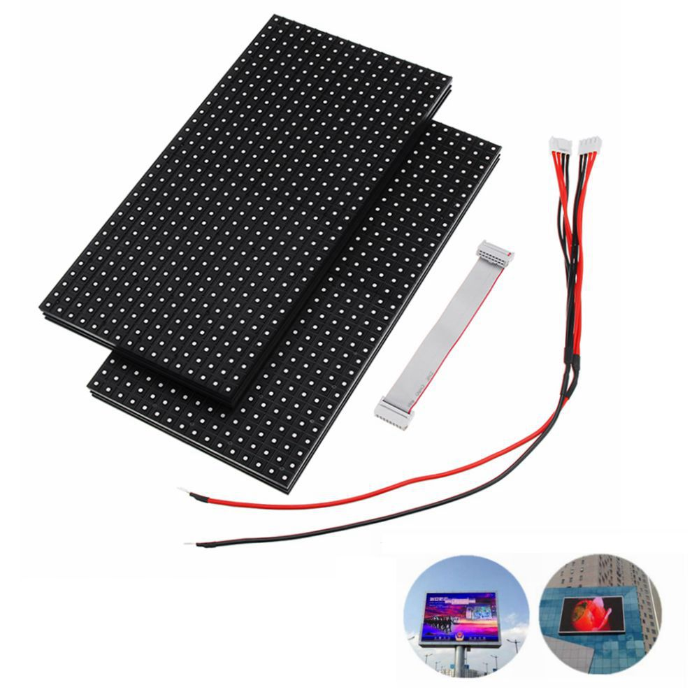 320*160 LED Display Waterproof P10 DIP SMD LED Display Module Full Color Advertising Module Sign Board Wall Screen Outdoor