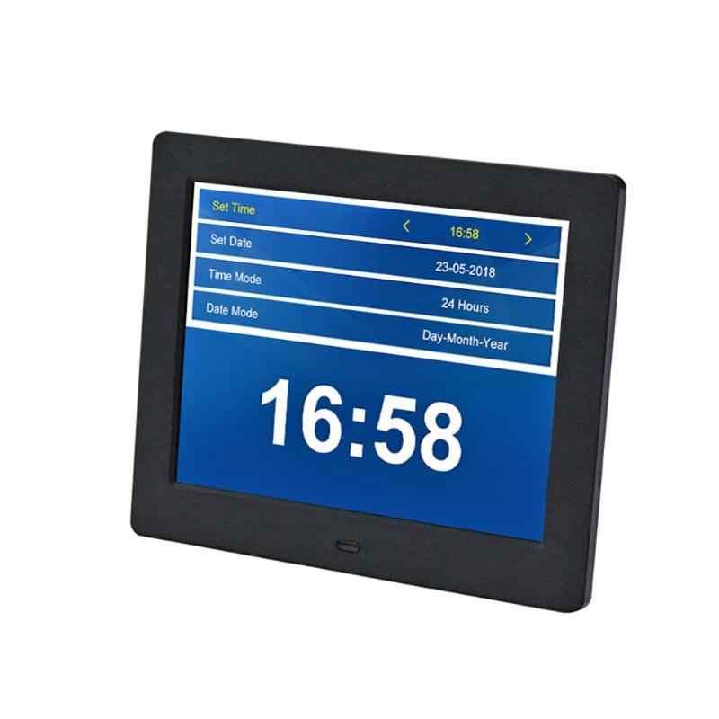 Digital Photo Frame Electronic Album Picture  8inch Electronic Photo Frame Digital Picture Frame Alarm Clock Calendar