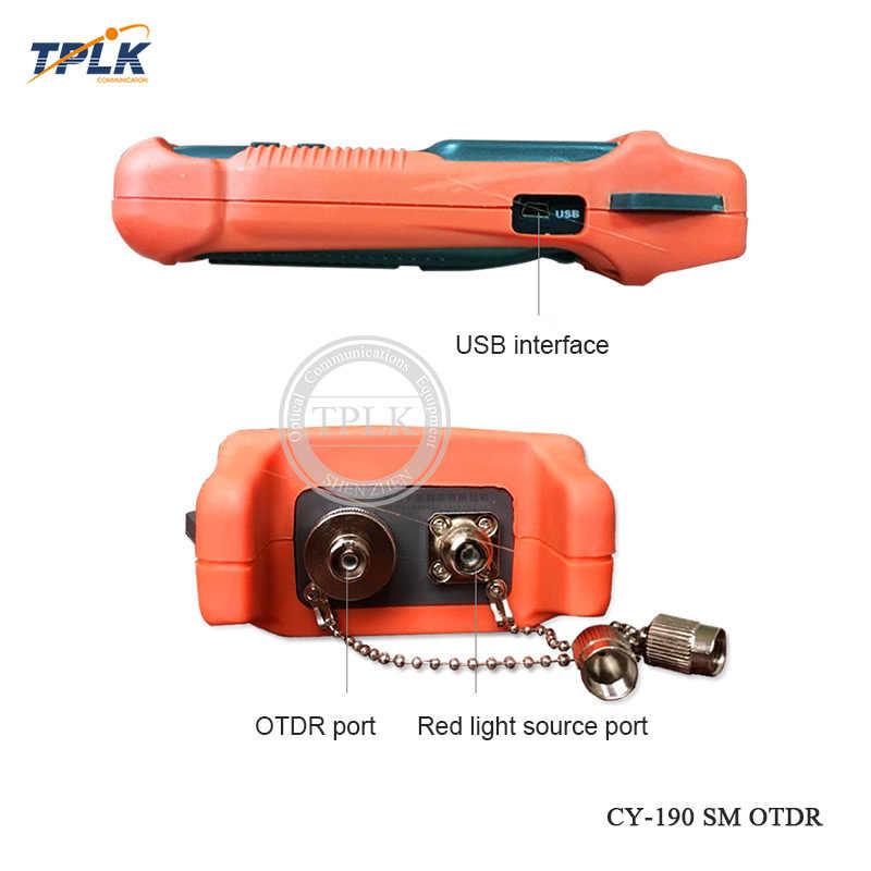 Горячие Ручной SM 60 км 1310nm + 1 мВт VFL OTDR CY-190S волокно тестер неисправностей оптический CY190S OTDR время домен рефлектометр