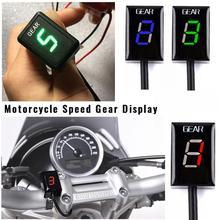 цена на For Honda Series Motorcycle LED Level ECU Plug Mount Speed Gear Digital Display Indicator Speedometer