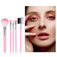 MIXDAIR 5 pièces ensemble de pinceaux de maquillage fard à paupières fond de teint poudre Blush lèvres pinceaux cosmétiques doux cheveux synthétiques beauté maquillage outils