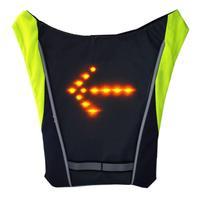 Велосипедный беспроводной пульт дистанционного управления предупреждающий светодиодный фонарь указатель поворота рюкзак жилет светоотр...