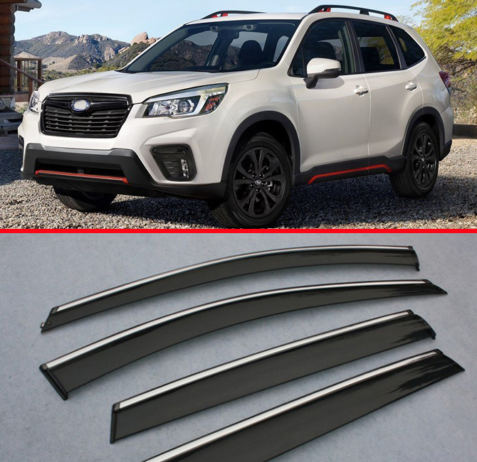 For Subaru Forester 2019 Deflector Window Visors Guard Vent Weather Shield