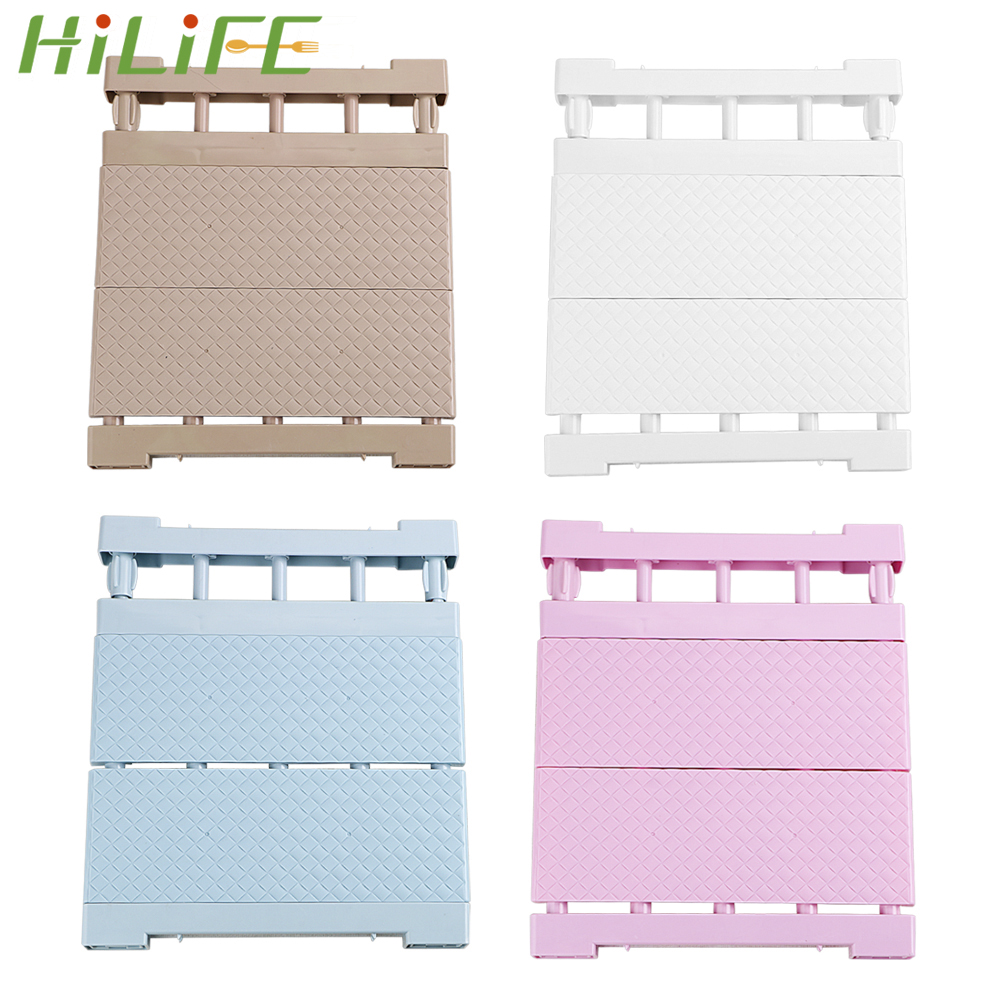 HILIFE Closet Storage Shelf Organizer Shelf Space Saving Wardrobe Decorative Shelves Cabinet Holders Wall Mounted Kitchen Rack