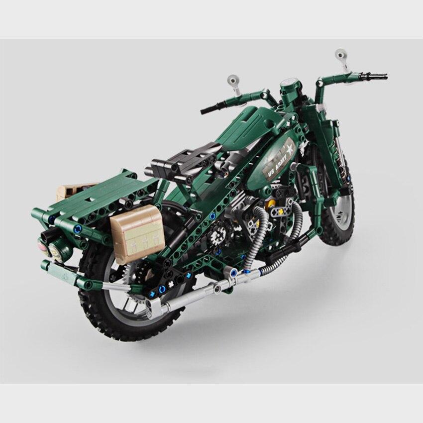 550PCS Motorcycle Model Building Blocks Set With Motor Battery Box Bricks Compatible For Legoes Technic Blocks Toys Gift