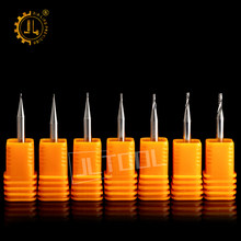 JIALING 1pc 0.1mm Cnc milling cutter router bits for wood engraving bits cnc cutting bits end mill