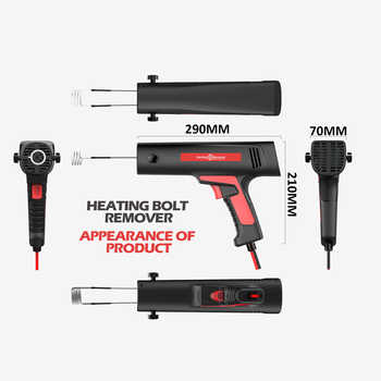 Handheld Small Induction Heater Quick Release Rusty Screw and Nut Machine Flameless Heating Bolt