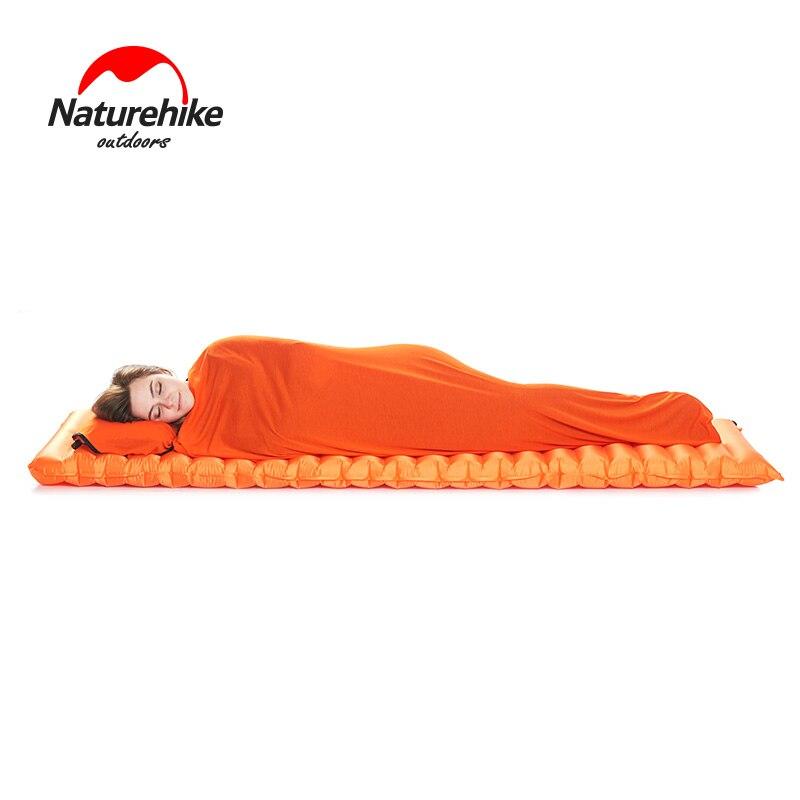 Naturehike Sleeping Bag Liner Envelope Mummy Outdoor Camping Portable Single Bed Sleeping Bag Liner Lock Temperature
