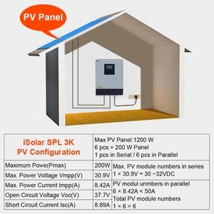 Image 5 - EASUN POWER Solar Inverter 3KVA 24V 220V Hybrid Inverter Pure Sine Wave Built in 50A PWM Solar Charge Controller Battery Charger