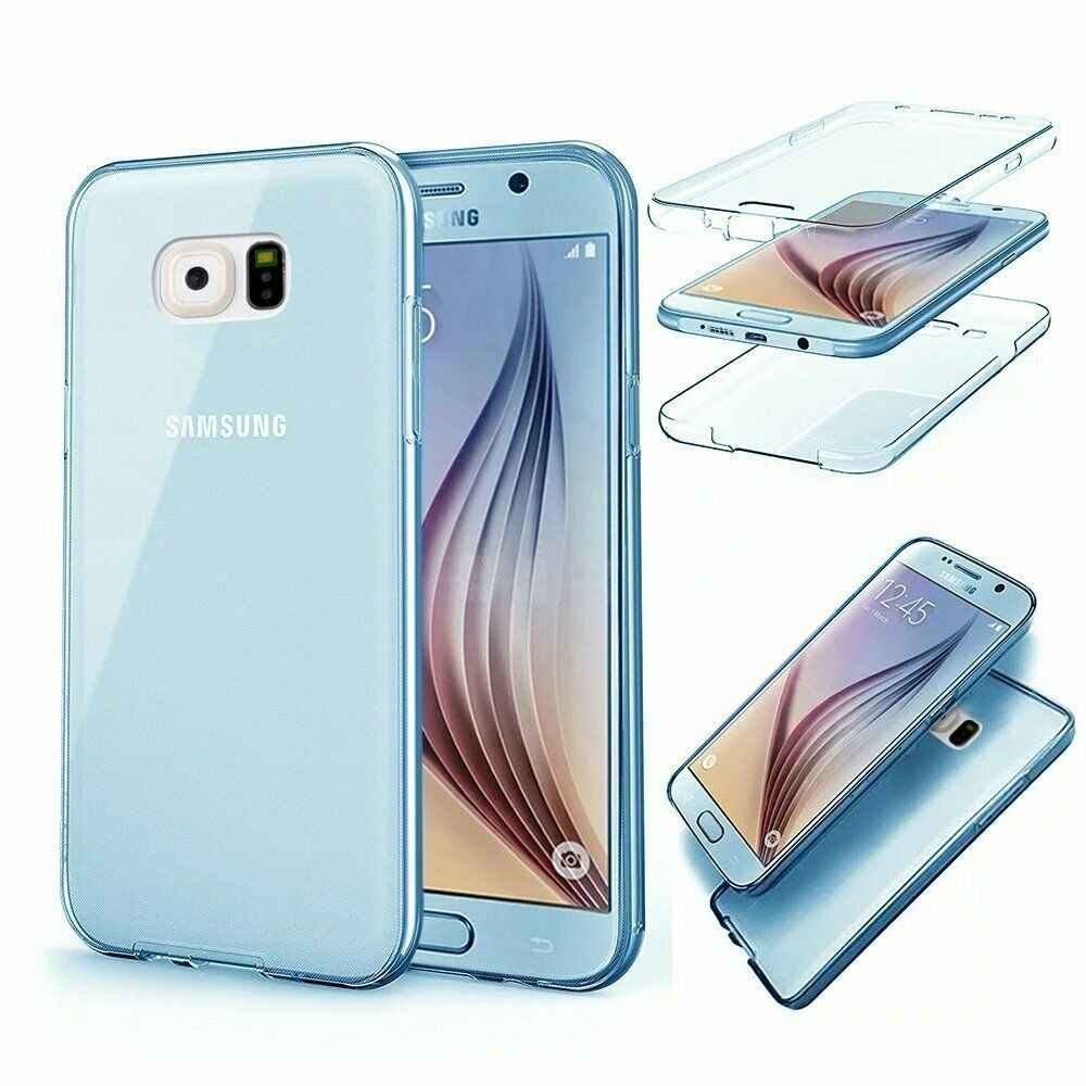 Dành cho Samsung A8 A7 A5 A3 J8 J7 J6 J5 J4 J3 2018 2017 Ốp Lưng Slim 360 Bộ Vỏ Full bảo Vệ Silicone Coque Etuis Tiện Dụng Hulle