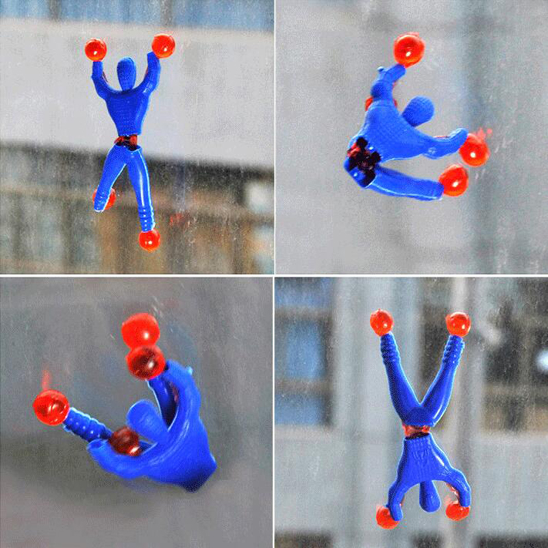 10pcs/lot <font><b>Funny</b></font> Novelty products Spider-man toy slime Viscous Climbing Spiderman squeeze Somersault villain <font><b>funny</b></font> <font><b>gadgets</b></font> toys image