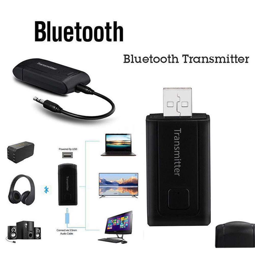 4 2 Bluetooth Transmitter Receiver Speaker Stereo USB Car Audio Portable  Wireless Music For TV PC Computer Headphones 3 5mm