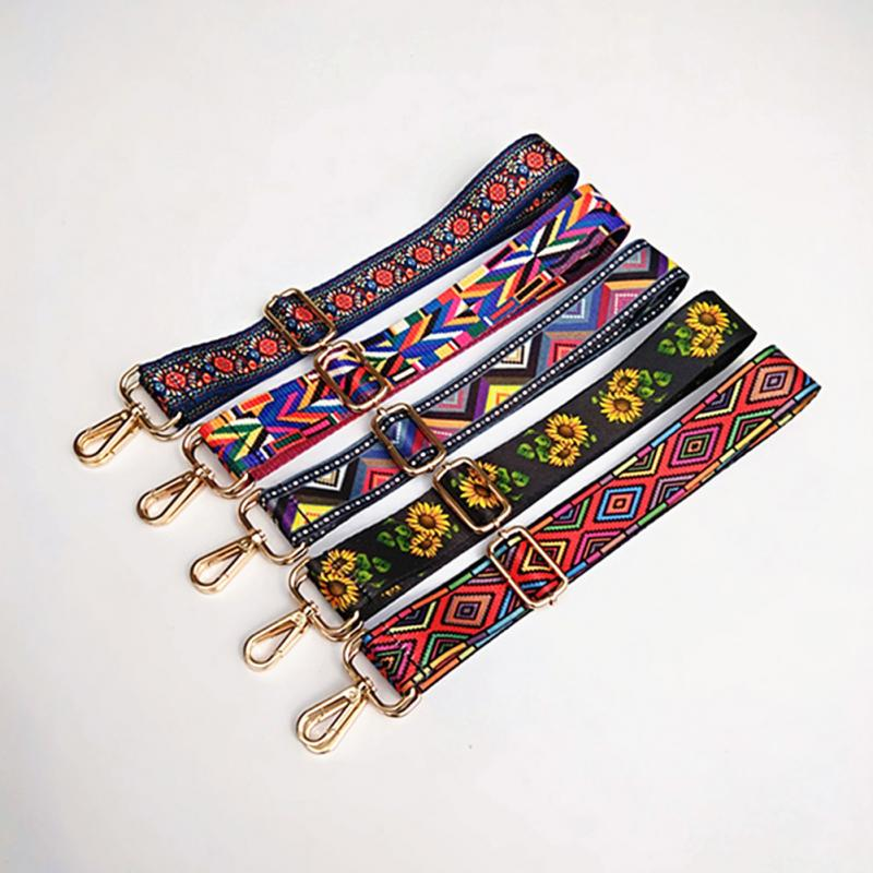 Ethnic Style Colorful Strap Rainbow Belt Accessories Adjustable Shoulder  Bag Strap Hanger Handbag Strap Cute Ribbon 8db66fbfc535b