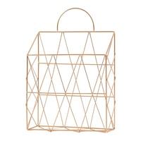 Magazine Holder Hanging Wall mounted Newspaper Book File Organizer Basket Iron Shelf Storage Container Display Stand