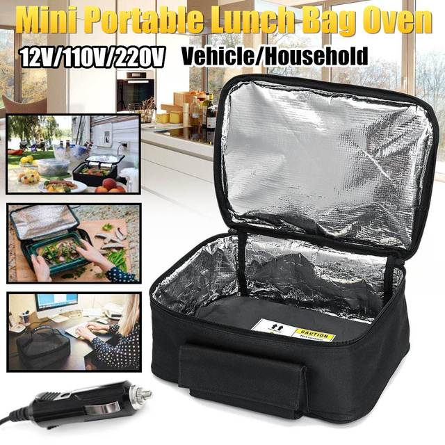 12v 110v 220v Vehicle Household Mini Personal Portable Lunch Oven