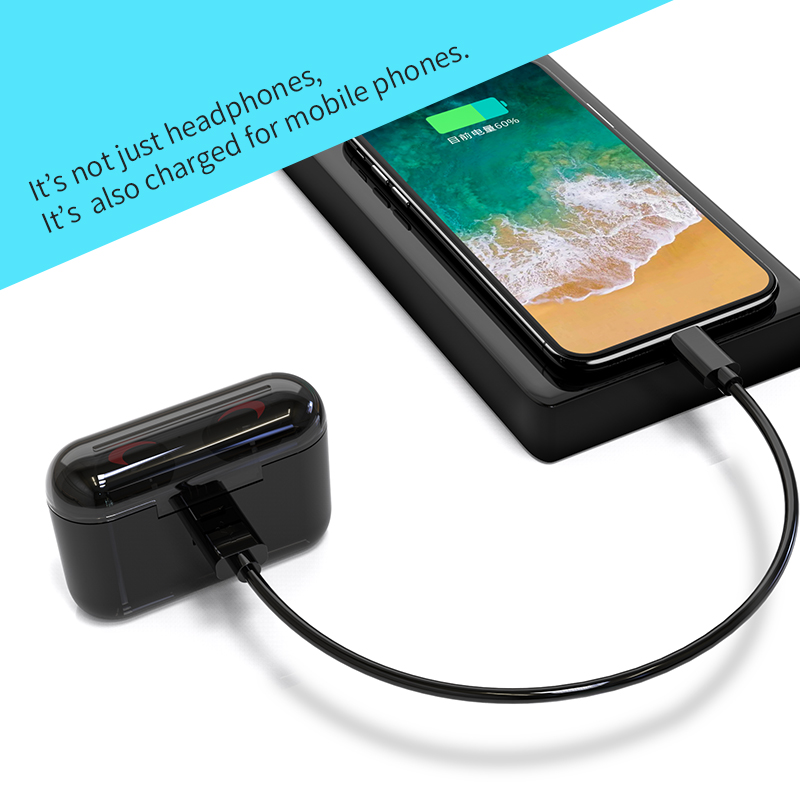 hbq wireless bluetooth earphones 5.0 with mic for hands free call charging box