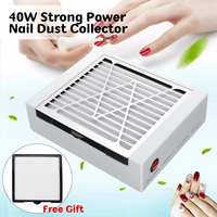 40W Adjustable Speed Nail Dust Collector Vacuum Cleaner Nail Art Beauty Machine With 2 Dust Collector Filter Nail Salon Supplies