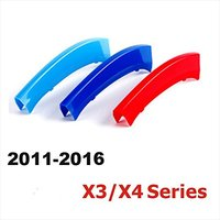 for BMW X3 X4 F25 F26 7Grilles 2011 2016 Grills Trim Strips Cover 3 colors 3D Front Grille performance Decoration Stickers