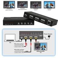 Koqit 2port HDMI Switch Dual Picture Screen Spliter Multi viewer HDMI 2x1 Seamless Switcher Converter PIP POP 1080P