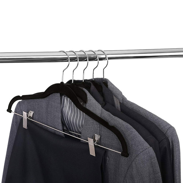 8 peças de veludo roupas cabides premium antiderrapante cabides com clipes para vestido jaquetas casacos roupas calças