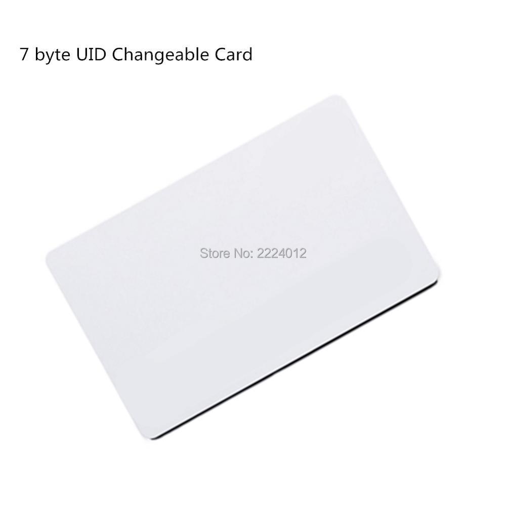 13.56mhz MF1k S50 0 Block Writable 7 Byte UID Changeable Rewritable RFID Card