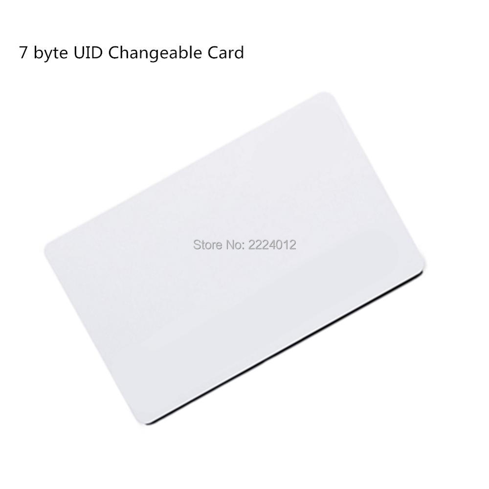 13.56mhz MF1k S50 0 Block Writable 7 Byte UID Changeable Rewritable RFID Card