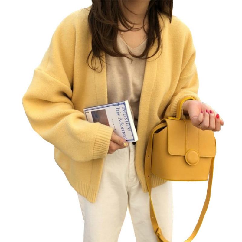 Female Cardigans 2019 Autumn Winter Sweater Cardigan Long Sleeve Oversized Knitted Jacket Coat Loose Outwear Casaco Feminina