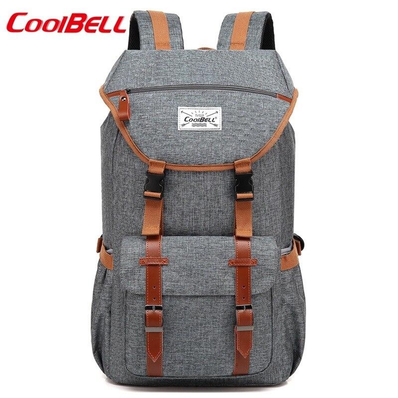 CoolBELL 17.3 pouces sac à dos mode multifonctionnel étanche affaires sac à dos hommes femmes ordinateur portable voyage sac d'école pour adolescent