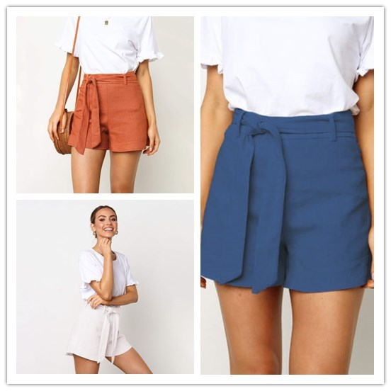 5d8ba5fa0b5a6 US $6.04 10% OFF|Aliexpress.com : Buy Fashion Women Sexy High Waist Crepe  Hot Shorts Summer Ladies Girls Casual Shorts Clothes from Reliable Shorts  ...