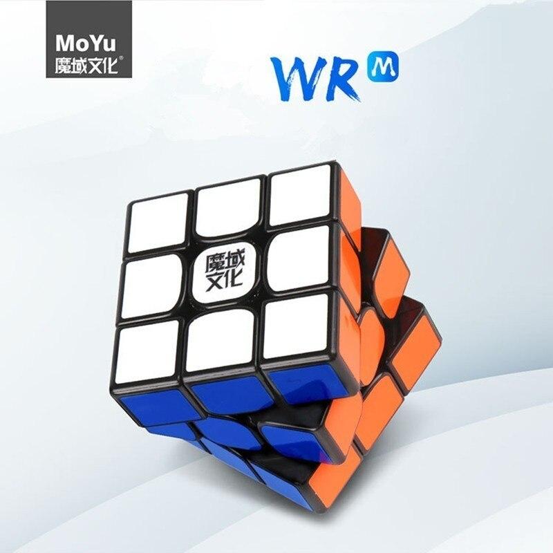 MoYu Weilong WR M 3x3x3 Weilong WR magnétique néo Cube magique Puzzle professionnel MoYu 3x3 aimants Cubes pour excès de vitesse Fidget
