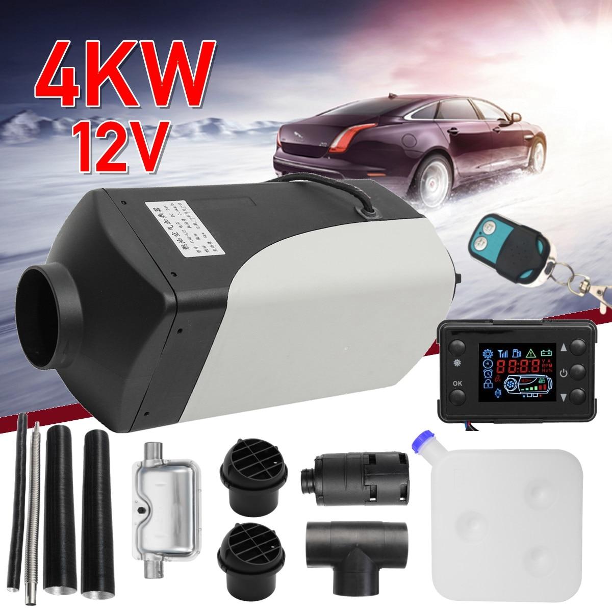 4KW 12 V diesel calentador de aire para camión barcos caravana RV autobús-para reemplazar centralitas D4... webastos aparcamiento calentador + Control Remoto + silenciador