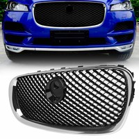 Chrome Front Bumper Grille Mesh Grill For Jaguar X250 XF XFR XFRS 2008 2009 2010 2011
